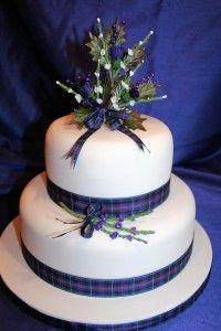 Tartan ribbon cake