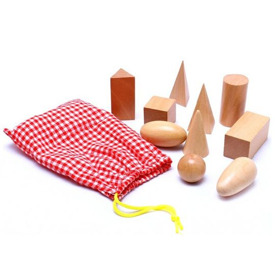 Mio Kids - Развивайся, играя! / Монтессори материал геометрические фигуры объемные деревянные / Монтессори материалы / Каталог