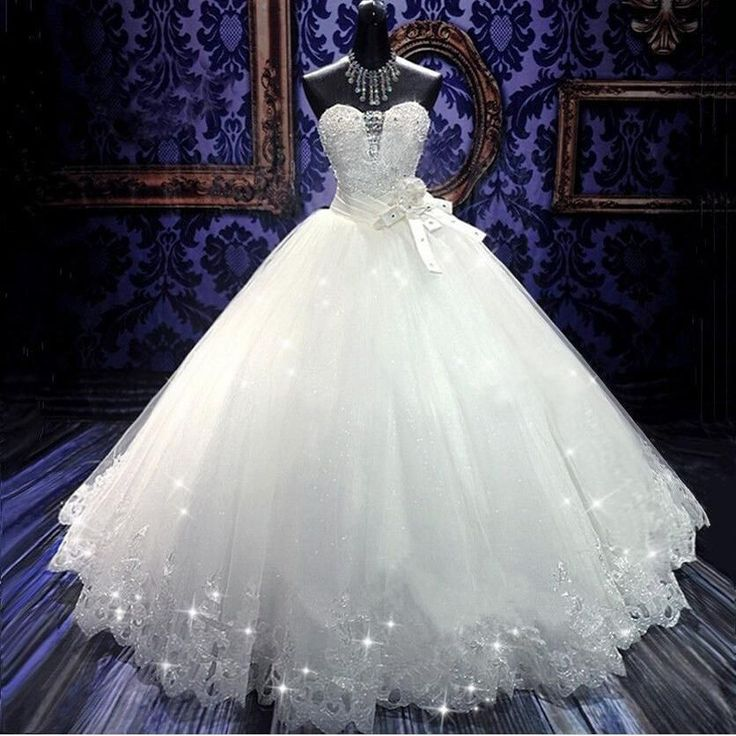 Beautiful Top Made 2015 Princess Ball Gown Wedding Dresses Sleeveless W1425 Romantic Long Bridal Gowns Tulle Shiny Fashion Modern Princess from in_love, $149.74 | DHgate Mobile