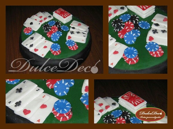 Torta Mesa de poker