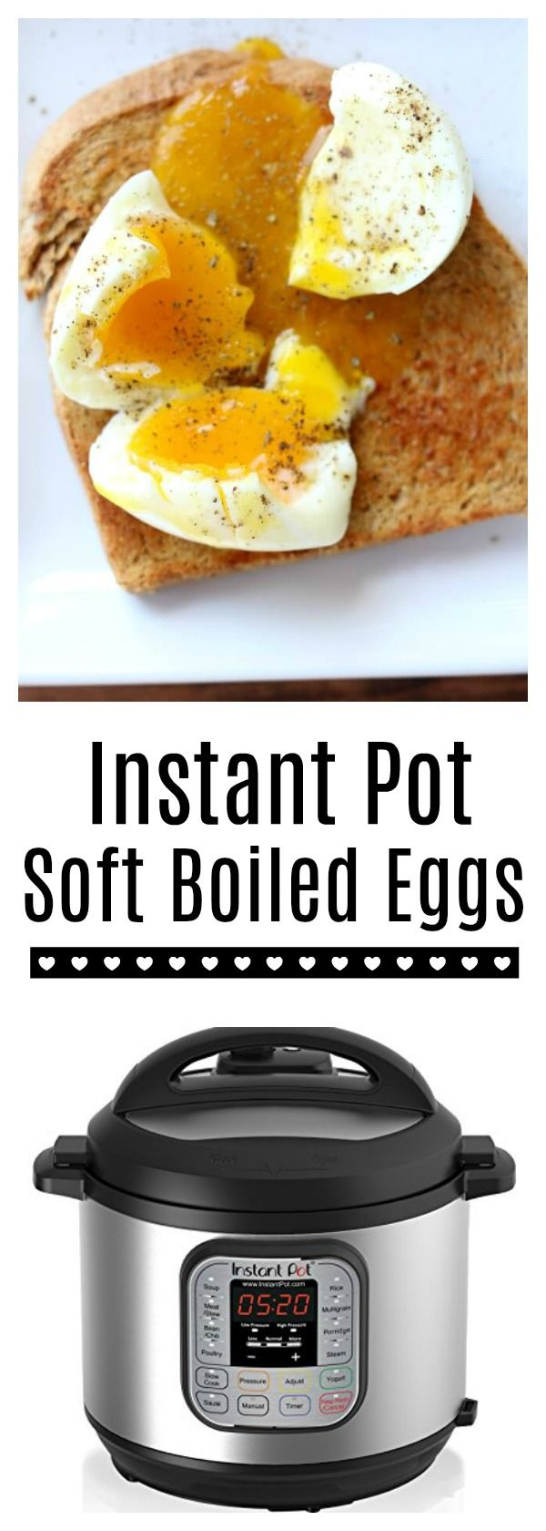 Instant Pot Soft Boiled Eggs–if you're a fan of a nice piece of whole wheat toast dipped into the warm runny yolk of an egg then you're going to love making soft boiled eggs in your pressure cooker. The process is simple and hands off and produces the perfect soft boiled egg.