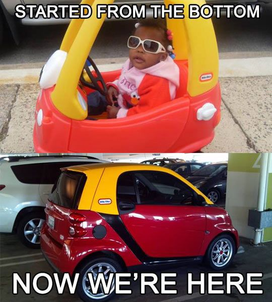 A Little Tyke For Adults - only way I'd ever get a smart car!