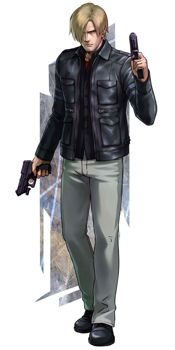 Leon S. Kennedy from Project X Zone 2  he reminds me of Sanji