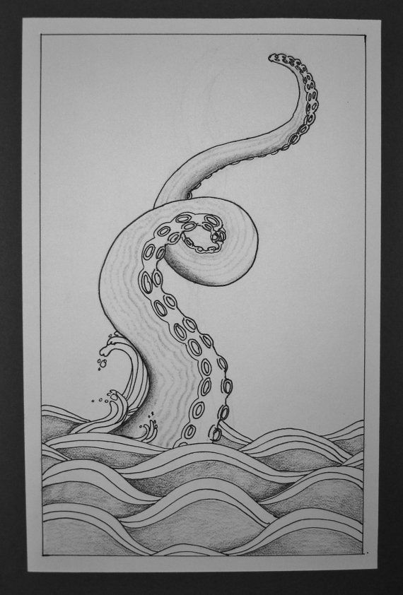 25 best ideas about octopus painting on pinterest for Simple octopus drawing