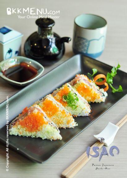 Sushi sandwich @Isao Onoe Onoe Bangkok...best sushi rolls ever we all say!!!!!