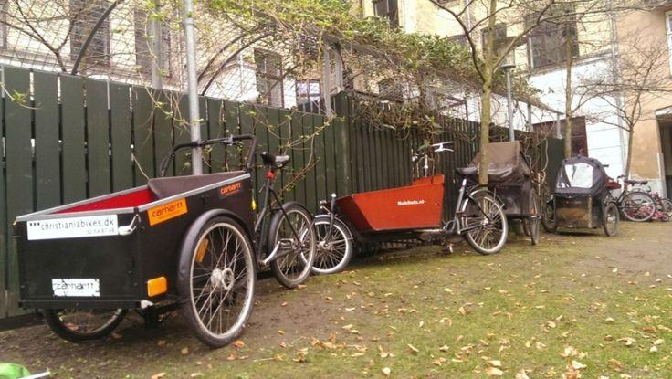 Sopisiko kuormapyörä taloyhtiön yhteiseksi hankinnaksi? Kuva on Kööpenhaminasta, missä joka neljännellä kaksilapsisella perheellä on kuormap...