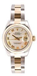 Rolex Ladys 179173 Datejust, Oyster Band, Fluted Bezel & Mother of Pearl Roman Dial