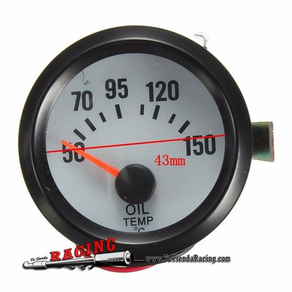 Marcador Dial Medidor de Temperatura de Aceite 50-150° 2'' 52mm para Coche Tuning Color Blanco - 12,44€ - TUTIENDARACING - ENVÍO GRATUITO EN TODAS TUS COMPRAS