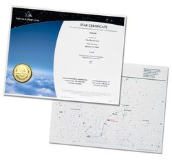 The Instant Gift Set Plus comes with a digital copy of both the Star Certificate and Star Chart. $29.90