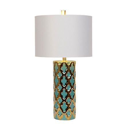 Blue and Gold Moroccan Table Lamp   Kirklands