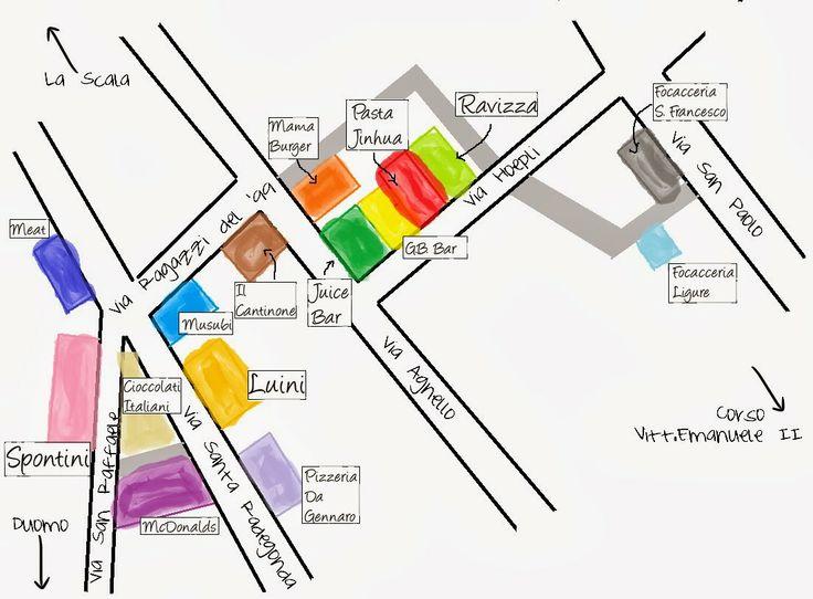 """The traveling foodie: Duomo """"food court"""", Milan"""