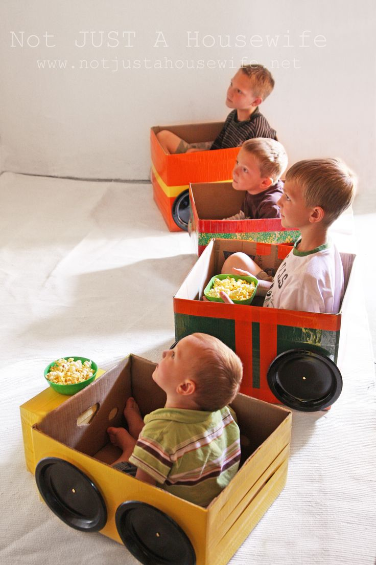 cardboard cars for drive-in movie