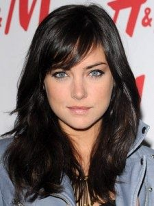 Hair side swept bangs (love the cut and color!)