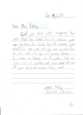 Opening Our Doors: 2nd Grade Persuasive Letter Writing Samples