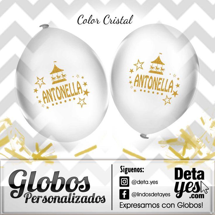 Globos Personalizados R18 Cristal para Decoración de Fiesta, Somos @deta_yes  , Envíos a Toda Colombia, Pedidos 31856657519