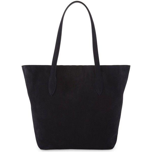 Max Mara Suede tote (45.250 RUB) ❤ liked on Polyvore featuring bags, handbags, tote bags, suede handbags, metallic handbags, clear handbags totes, clear purse and tote purses