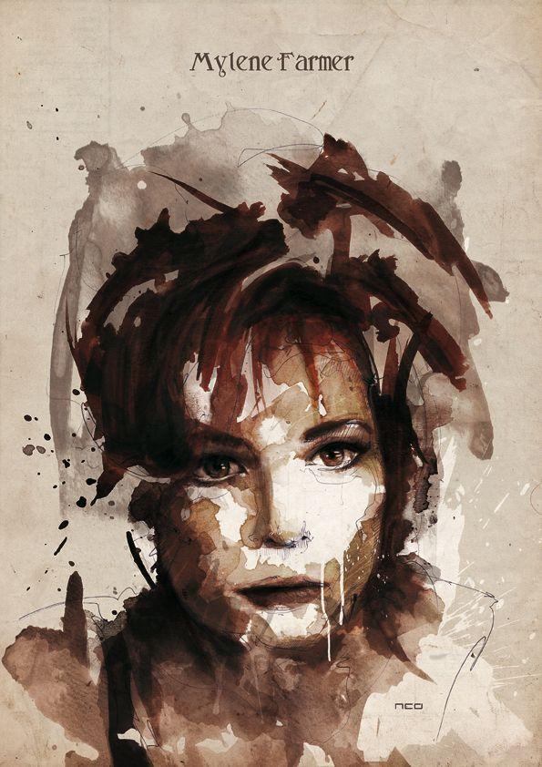 Mylene Farmer by neo-innov.deviantart.com on @deviantART