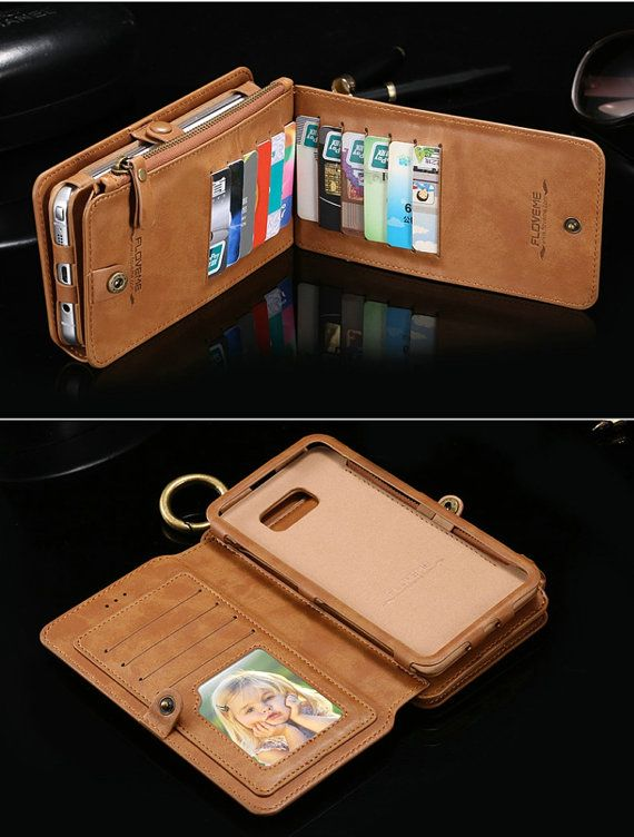 Item no.: Samsung galaxy note 5 wallet  This model is very nice genuine brown leather, have 14 cards slot for customer and one transparent card slot