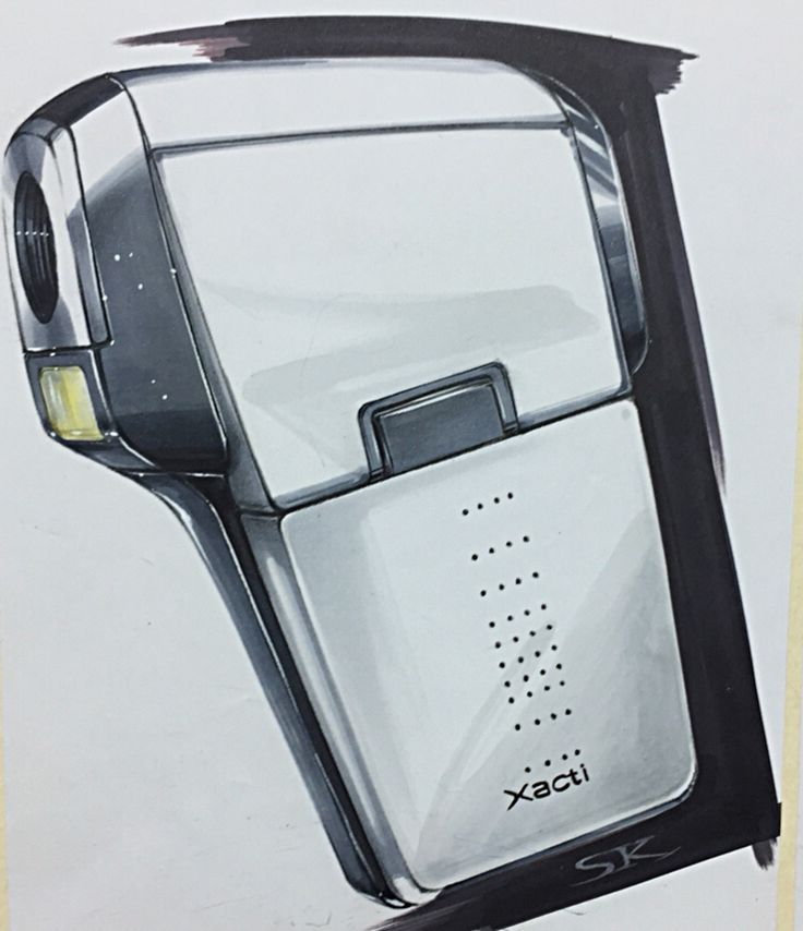 camcorder marker rendering on Behance