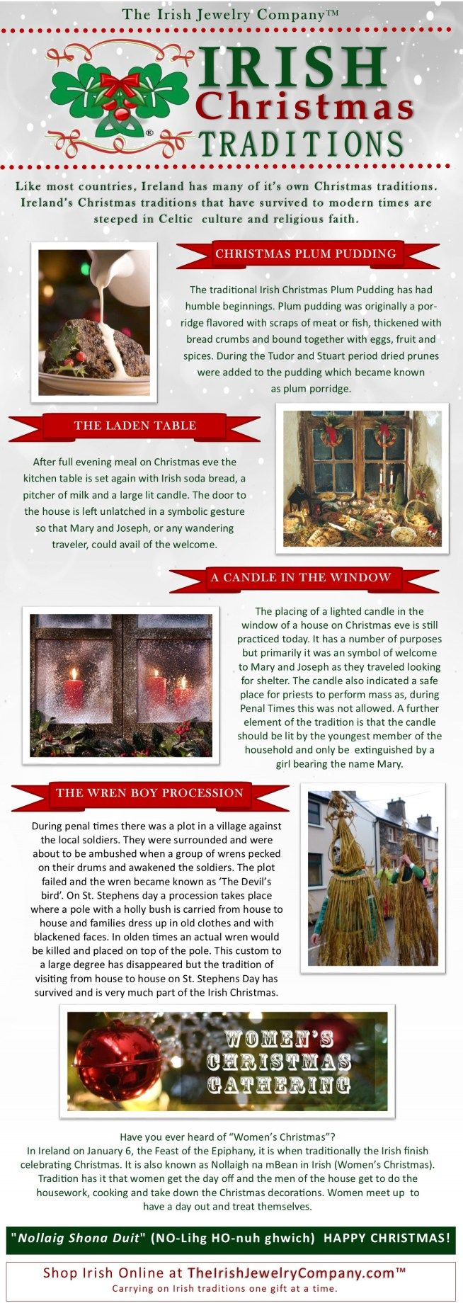 irish christmas traditions infographic