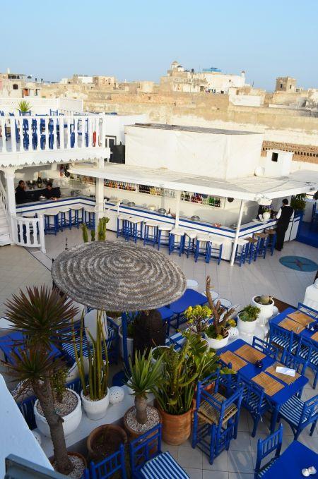 Rooftop restaurant Le Taros / Essaouira, Maroc / Photo Lejardindeclaire.
