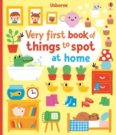 A-look-and-talk-book-for-very-young-children-with-simple-bright-illustrations-and-lots-to-see-and-spot-on-every-page-Children-can-spot-everyday-household-items-in-various-rooms-around-the-house-Perfect-for-sharing-with-little-children-and-will-help-them-learn-new-words-and-develop-vital-pre-reading-skills