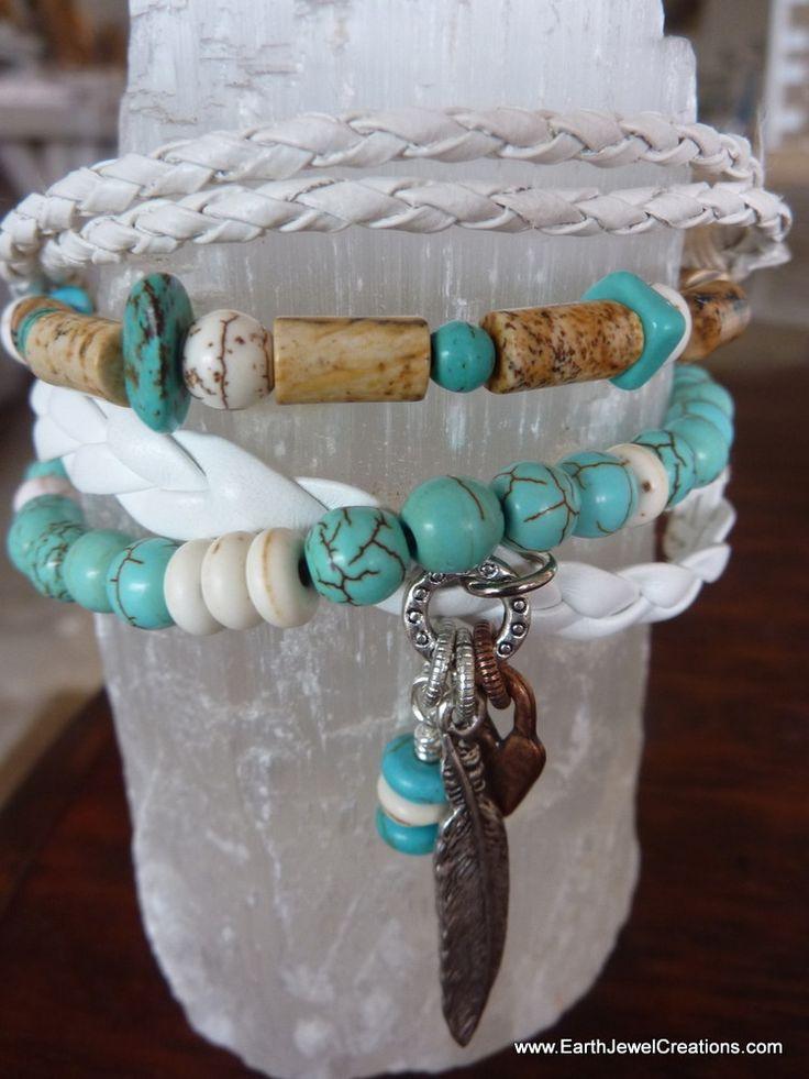 $79 - Free Spirit Multistrand Bracelet - Inspirational handmade gemstone jewellery Earth Jewel Creations Australia
