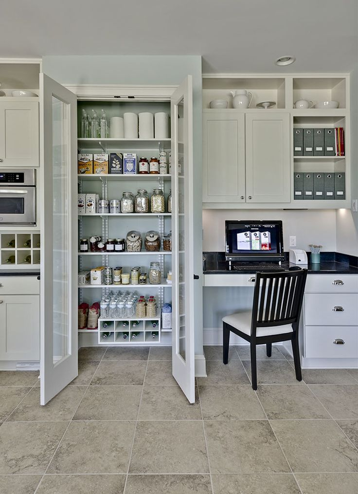 112 best walk in pantries images on pinterest for Walk in kitchen pantry