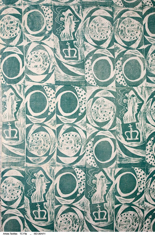 Ben Nicholson's 'Princess,' hand block-printed cotton, designed circa 1933