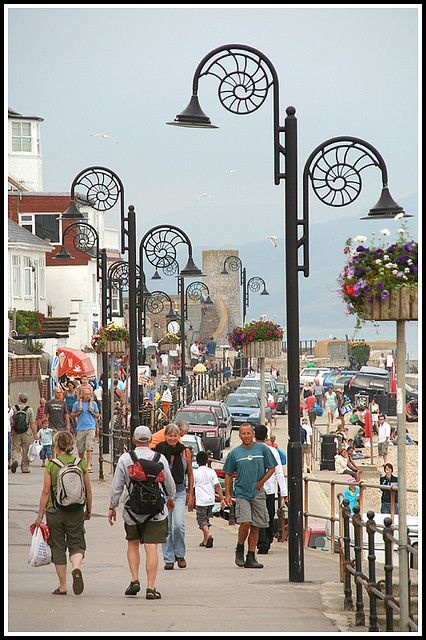 Ammonite lamposts, Lyme Regis, West Dorset, England, UK - by Capt' Gorgeous, via Flickr