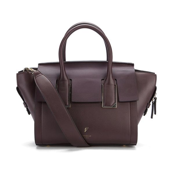 Fiorelli Women's Hudson Mini Tote Bag - Aubergine (410 RON) ❤ liked on Polyvore featuring bags, handbags, tote bags, wing tote, handbags totes, tote bag purse, structured purse and handbags tote bags