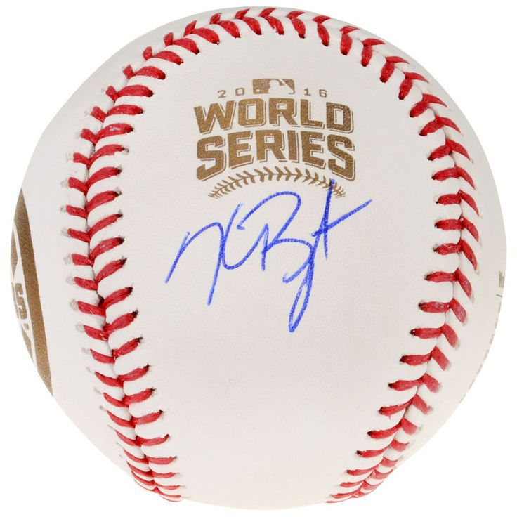 Kris Bryant Chicago Cubs Fanatics Authentic Autographed 2016 MLB World Series Champions World Series Champs Logo Ball