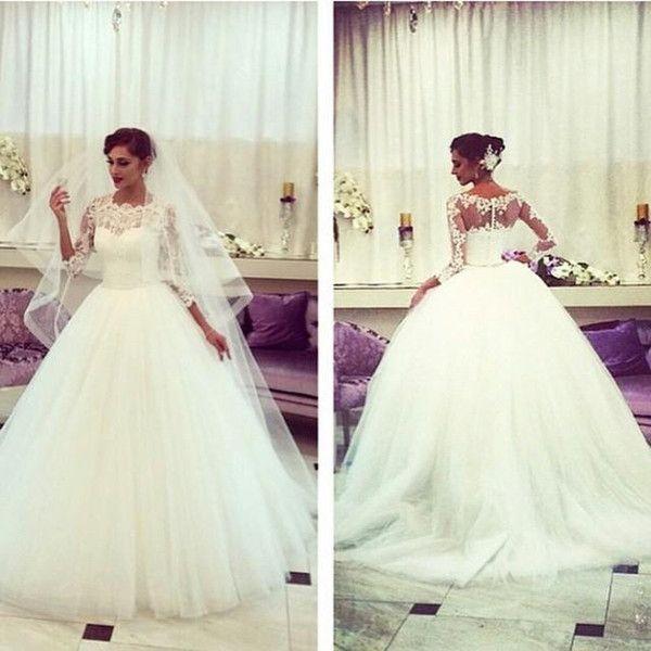 Queen 2015 Schaufel Ballkleid Brautkleider Illusion Spitze Backless Tüll Gericht Zug Brautkleider 2016 Design