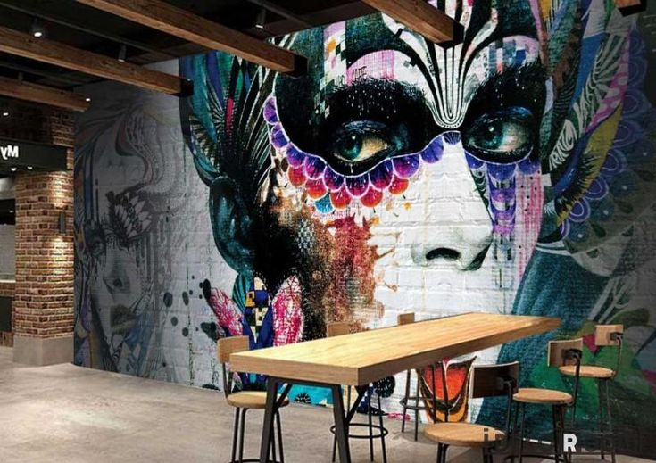 Graphic Design Graffiti Tattoo Girl Restaurant Art Wall Murals Wallpaper Decals Prints Decor