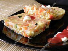 Pastel de verduras  INGREDIENTES  Un huevo  2 cs leche en polvo  2 cs queso batido (o 1cs y media si el queso batido está muy líq...