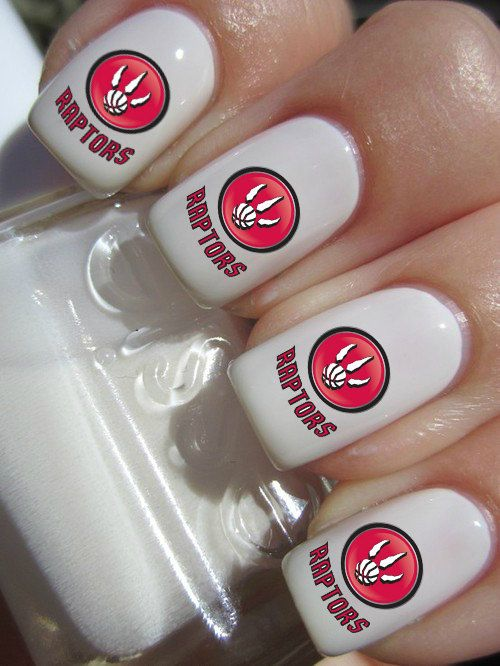 Toronto Raptors Basketball Nail Decals by PineGalaxy on Etsy, $4.50