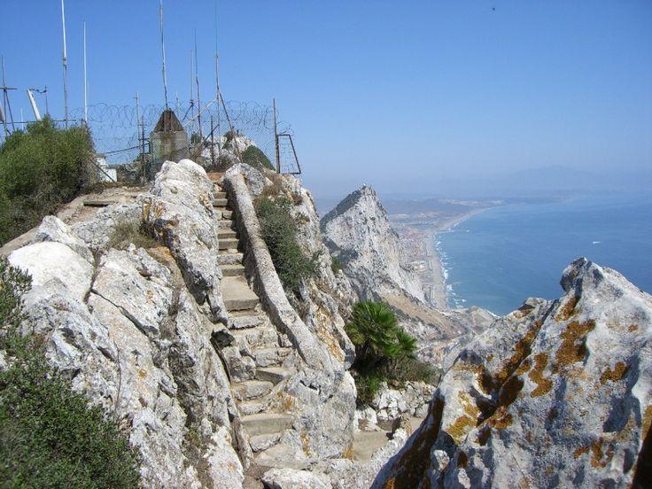 La scalinata della Rocca di Gibilterra