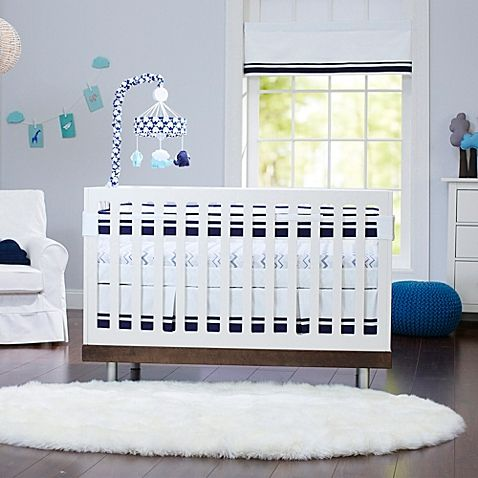 Just Born® Safe Sleep Collection Crib Bedding in Navy