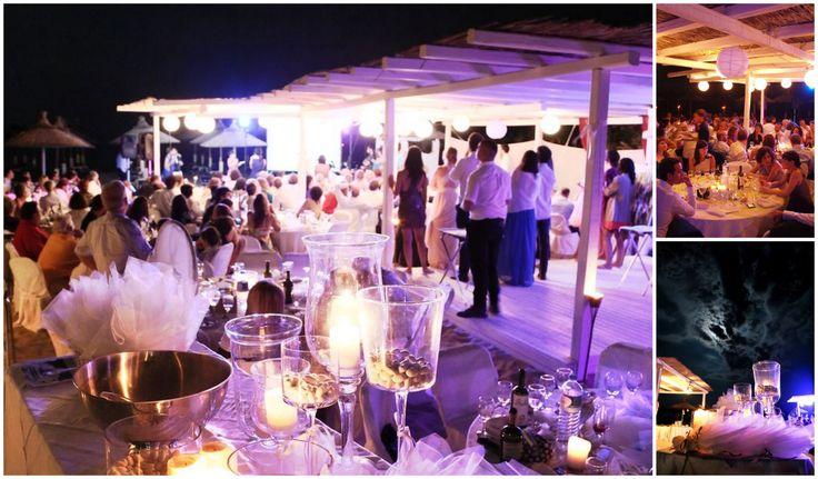 Beach bar wedding in Chalkidiki
