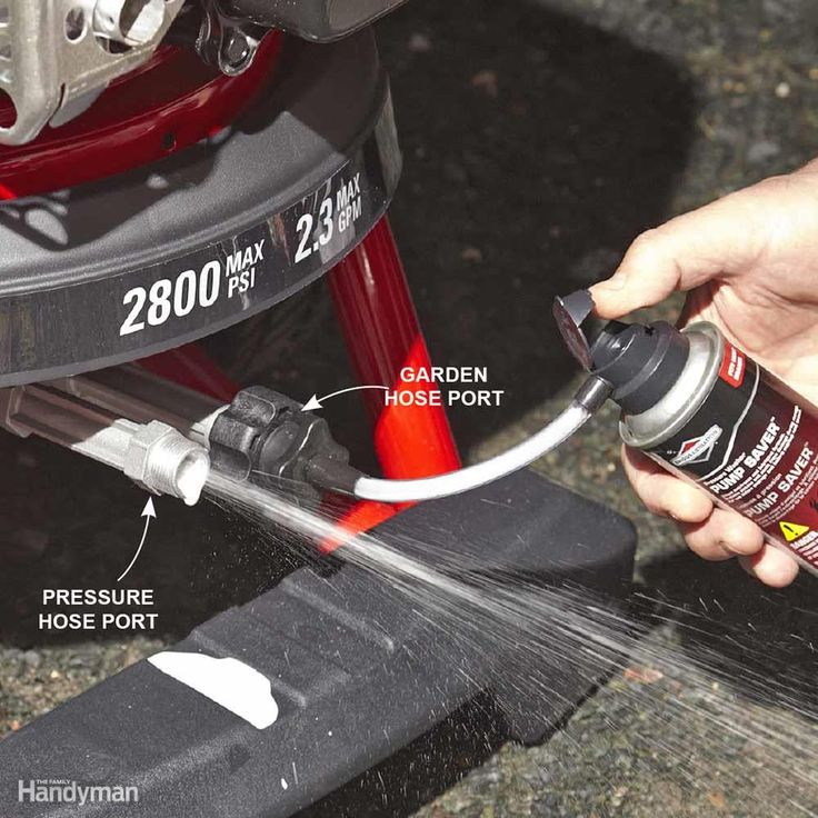 Make Your Pressure Washer Pump Last Longer - Leaving water in the pump can…