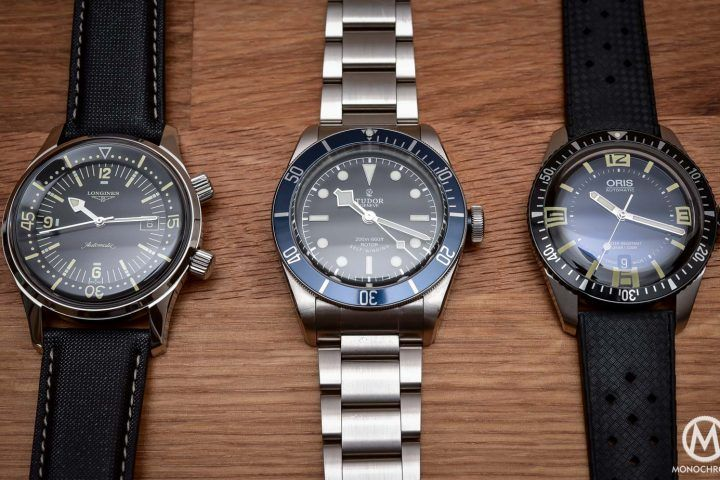 Comparative Review - 3 affordable & vintage-inspired dive watches from Tudor, Oris & Longines (live pics & price) - Monochrome Watches