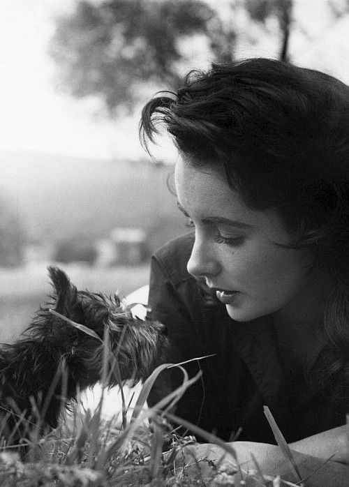Elizabeth Taylor photographed on the set of Giant by Peter Basch, 1955.