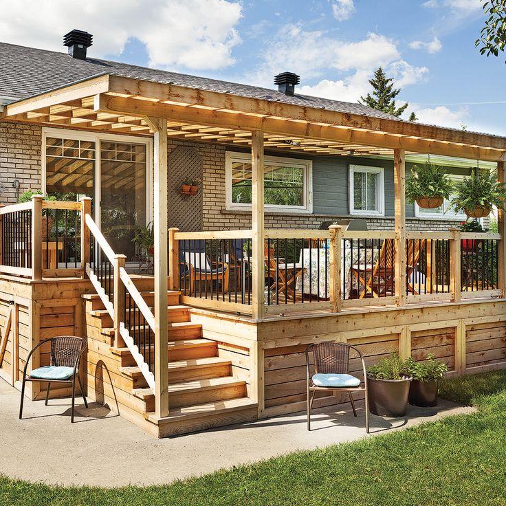 Fabriquer un escalier de patio - En étapes - Jardinage et extérieur - toiture terrasse bois accessible