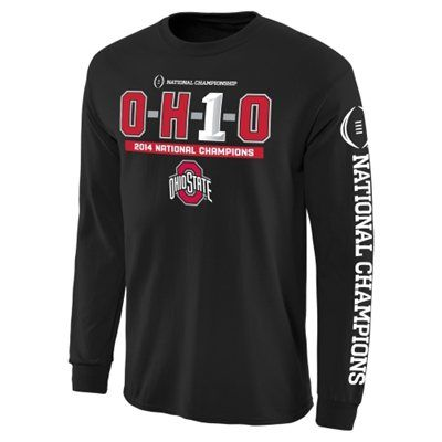 Ohio State Buckeyes 2014 College Football Playoff National Champions OH1O Long Sleeve T-Shirt - Black
