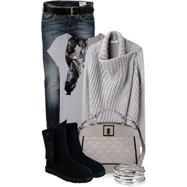 A fashion look from December 2012 featuring Helmut Lang cardigans, Cosabella t-shirts and UGG Australia boots. Browse and shop related looks.