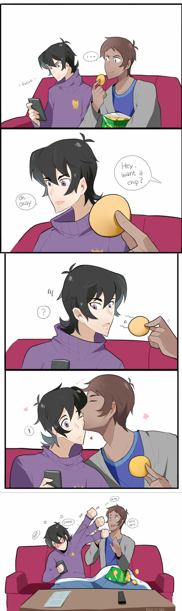 Keith is weak to Lance's romantic gestures