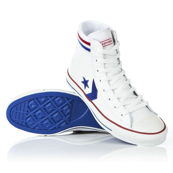 Converse Star Player Sock Shoes - White/Royal Blue