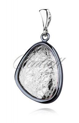 Srebrna zawieszka pr.925 oksydowana i diamentowana - Biżuteria srebrna dla każdego tania w sklepie internetowym Rejel