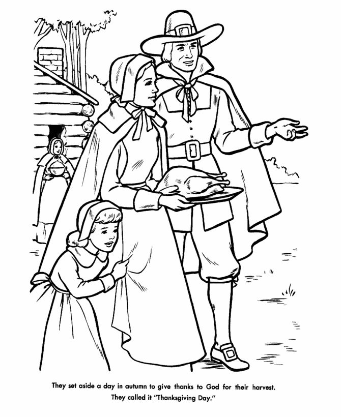 Pilgrims first thanksgiving coloring pages ~ 121 best images about Historical Coloring Pages for Kids ...