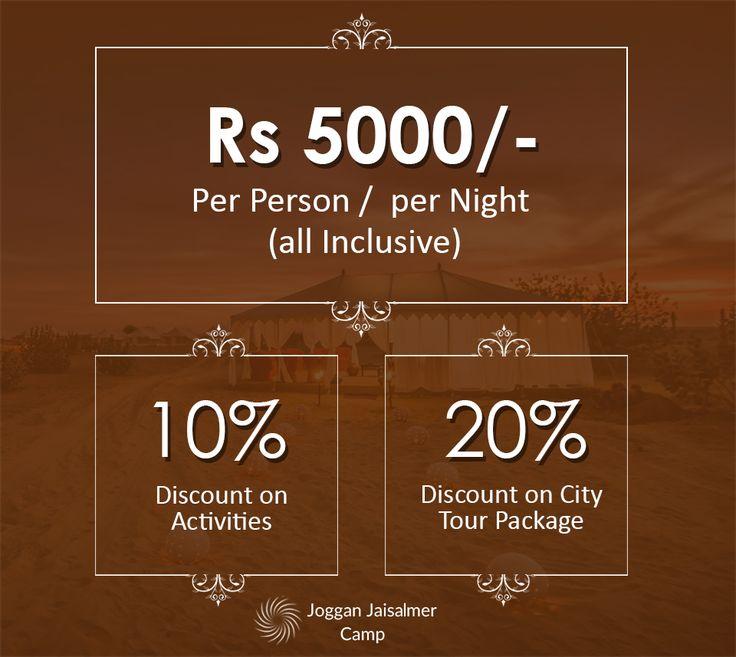 Latest Offers at Joggan Jaisalmer Camps